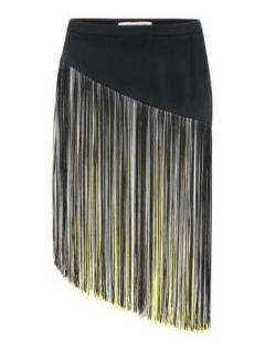 Christopher Kane asymmetric tasselled mini skirt