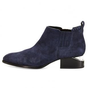 Alexander Wang Blue Kori Suede Lift-heel Boot