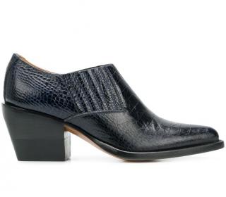 Chloe Crocodile Embossed Short Boots