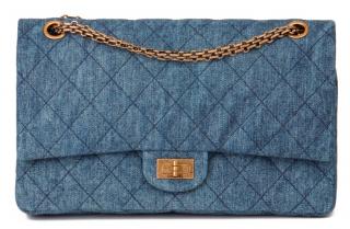 Chanel Denim Reissue 2.55 Double Flap Bag