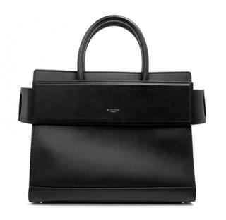 Givenchy Black Smooth Calfskin Small Horizon Tote