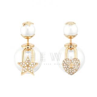 Dior Pearl & Crystal Tribales Earrings