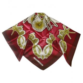 Hermes Les Eperons Silk Scarf 90