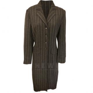 Philosophy di Alberta Ferretti Wool Pinstripe Coat