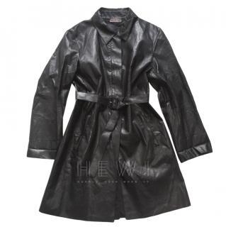Prada Glossy Technical Trench Coat