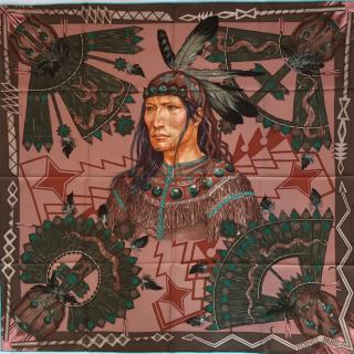Hermes Cosmoganie Apache Silk Scarf 90