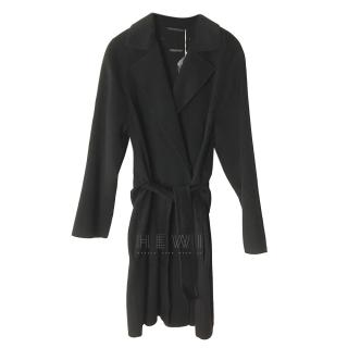 Max Mara Double Breasted Black Wrap Coat