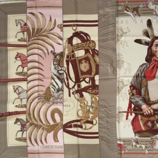 Hermes Carres en Carres Silk Scarf 90