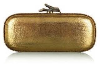 Diane von Furstenberg Gold Lytton Minaudiere