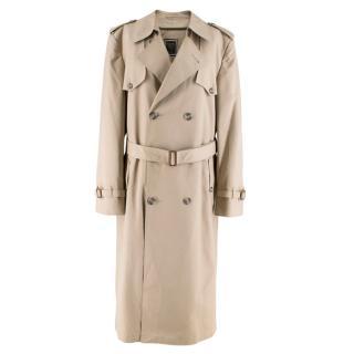 Dior Beige Longline Trench Coat