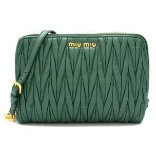 Miu Miu Emerald Matelasse Crossbody Bag