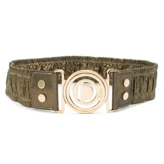 Dior Metallic Gold Elastic Waist Belt