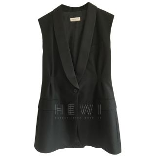 Dries Van Noten Wool & Cashmere Sleeveless Jacket