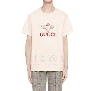 Gucci Ecru Tennis T-Shirt - New Collection