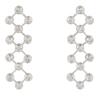 Tiffany & Co. Platinum Diamond Long Earrings