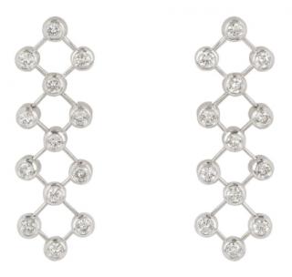 Tiffany & Co. Platinum Diamond Long Earrings