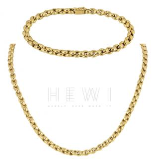 Cartier Yellow Gold Necklace and Bracelet Set