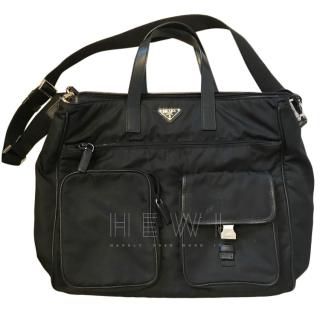 Prada Black Technical Nylon Satchel