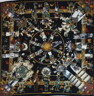 Hermes Kachinas 1st Edition Silk Scarf 90
