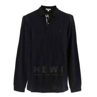 Burberry Black Long-sleeve Polo Top