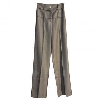 Chanel Golden Brown Wool & Silk Pants