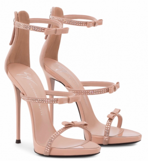 Guiseppe Zanotti harmony ribbon high heel sandals