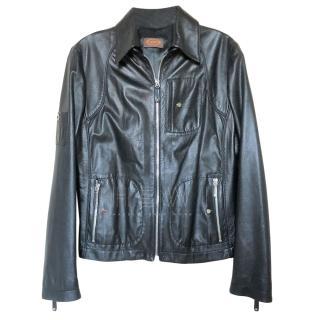 Tod's Black Leather Jacket