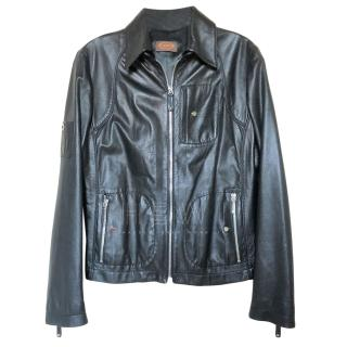 Tod's Black Leather Jacket