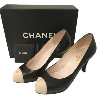 Chanel Two-Tone Round Toe Pumps