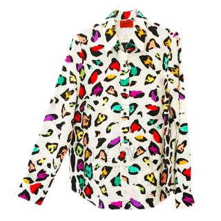 Missoni Multicolour Leopard Print Silk Blouse
