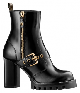 Louis Vuitton Black Patent Star Trail Ankle Boots