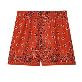 Alexander Wang Silk Printed Shorts
