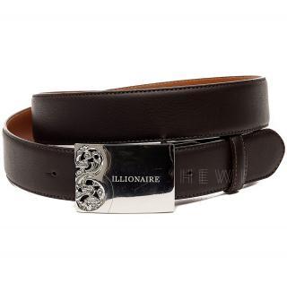 Billionaire Cocoa Brown Leather Belt