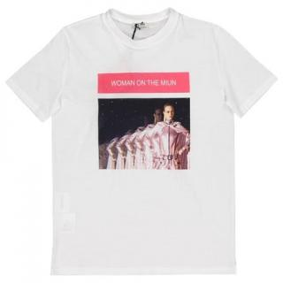 Miu Miu White Printed Jersey T-Shirt