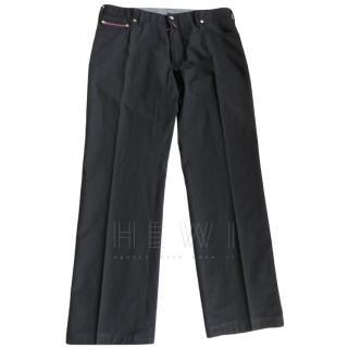 Stefano Ricci Crocodile Trim Jeans