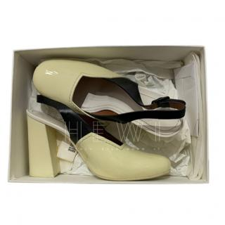 Celine Two Tone Slingback Sandals