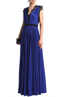 Catherine Deane Griffin satin pliss� gown