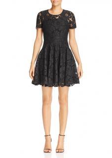 Michael Michael Kors Black Lace Fit & Flare Dress
