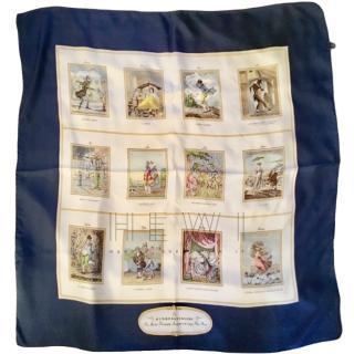 Burberrys Vintage Silk Printed Scarf