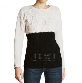 Max Mara Two-Tone Cable Knit Jumper