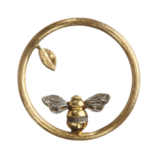 Annoushka 18k Yellow Gold Bee Hoopla Pendant