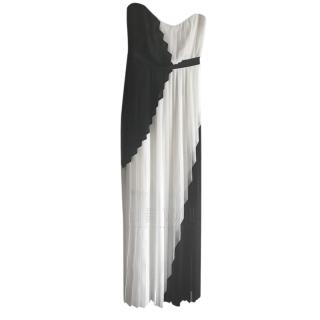 Paul Smith Black Label Pleated Chiffon Gown