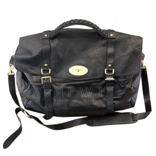 Mulberry black alexa travel bag