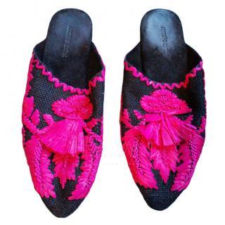 Antik Batik Embroidered Mules