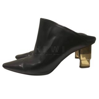 Celine Candleheel Leather Mules