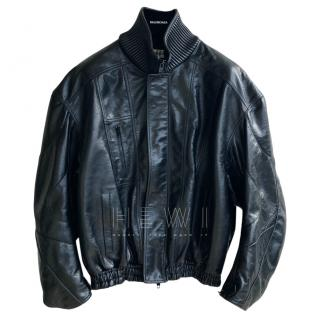 Balenciaga Black Calf Leather Jacket