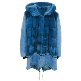 Mala Mati Ariat Blue Mink Fur & Suede Jacket