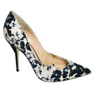Paul Andrew Black & White Floral Pumps