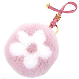 Prada Rabbit Fur Pink Coin Purse Charm