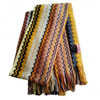 Missoni Zig Zag Knit Wool Scarf